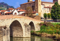 italian village bridge