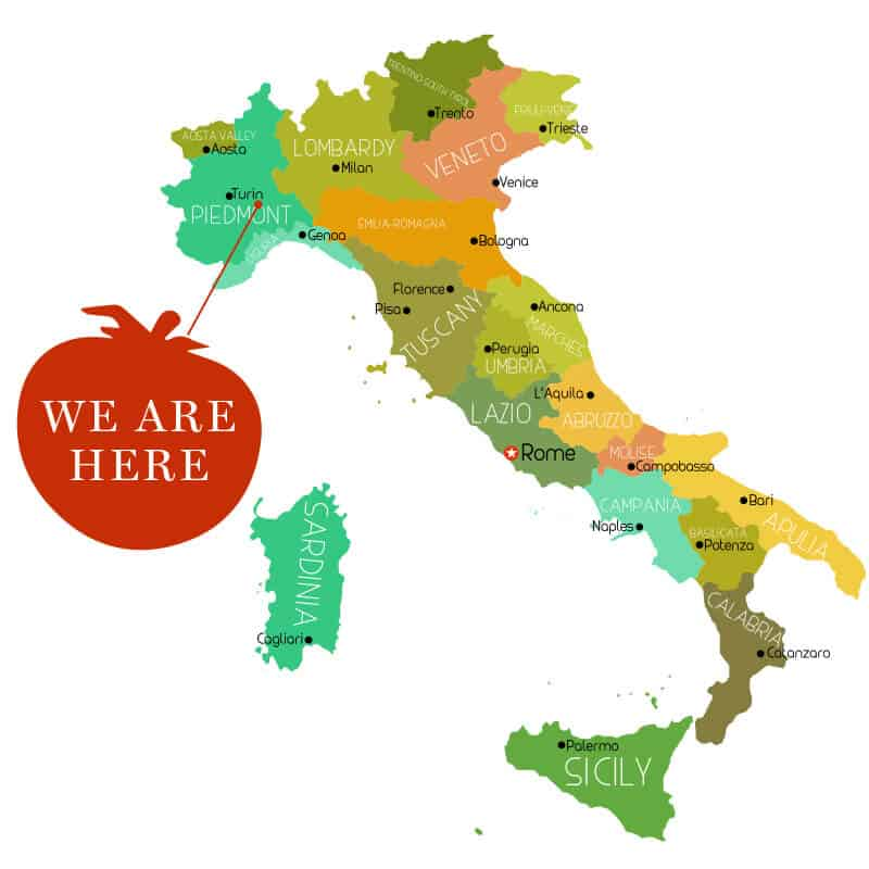 Italian Cooking Courses Map